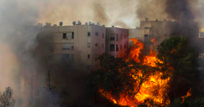 incendi israele