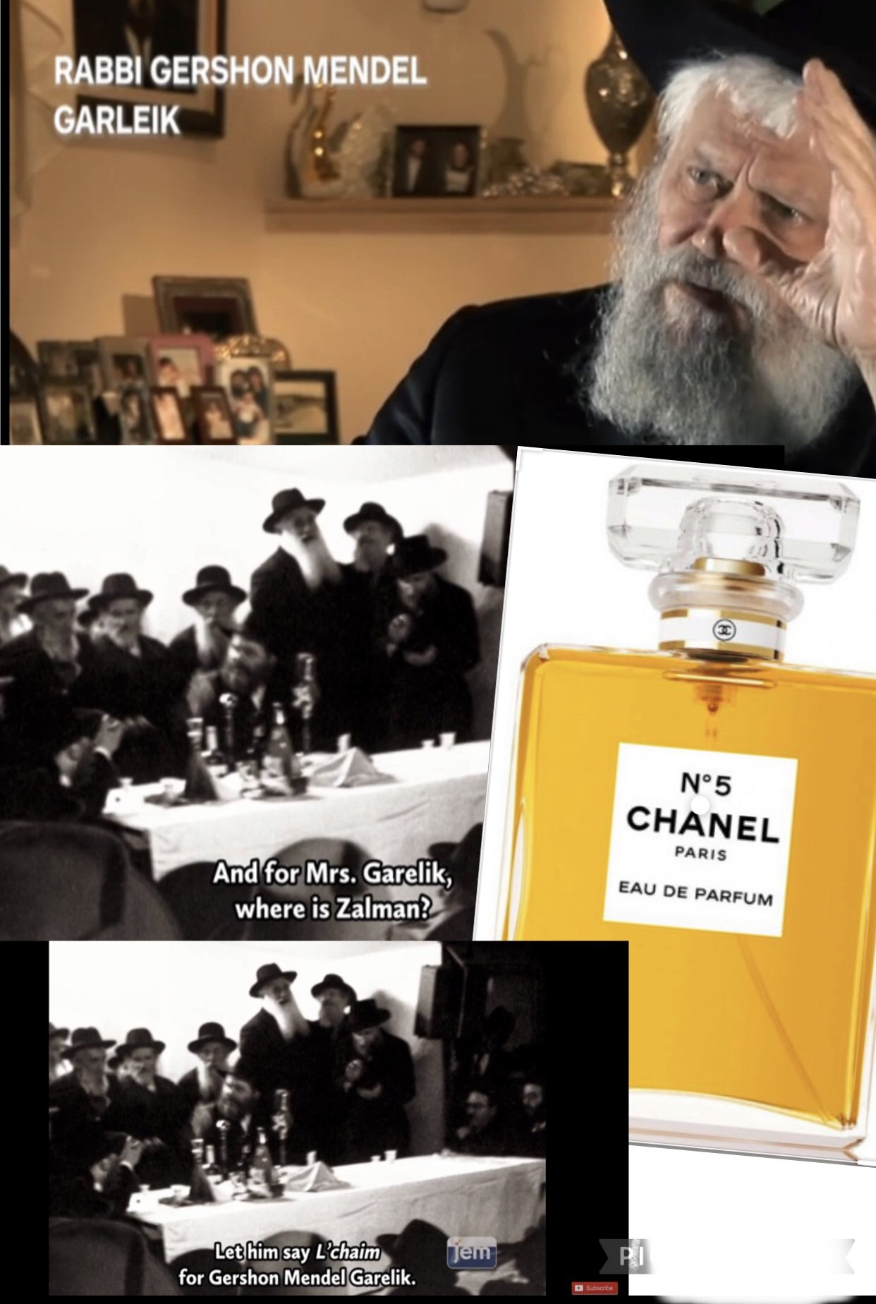 A rabbi in love and Chanel n.5